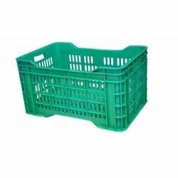 Green Rectangular Single Wall Big Jali Fruit Crates, Size: 540 X 360 X 290 Mm, Capacity: 48 Liters