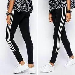 Cotton Straight Fit Ladies Stretchable Legging, Size: XL-XXL