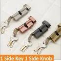 1 Side Key 1 Side Knob Brass Mortise Handle