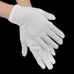 白色棉手手套,官方