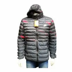 Hooded Mens Polyester Jacket, Size: M-XXL