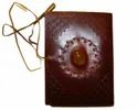 Vintage Brown Leather Journal with Stone