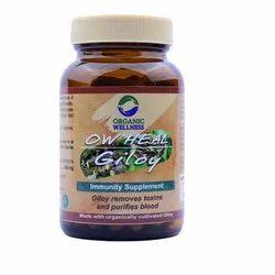Organic Wellness Giloy 90 Capsules Bottle
