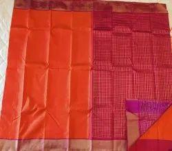 Bricks Fire Silk Saree