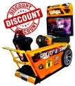 Car Racing Arcade Game Machine Split Second Single Player
