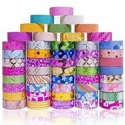 Brand: Juskraft Color: Multicolor Decorative Paper Glitter Tapes For Crafts And Diy