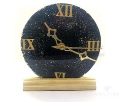 Round Black Tourmaline Orgonite Clock, For Home, Office