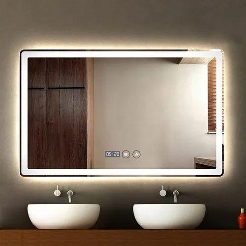 Wall Mounted Decorative Bathroom Mirror, Bathroom Mirror Design Image