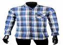 Jpnd Check Mens Blue Full Sleeves Shirts