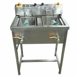 Double Deep Fryer With Stand