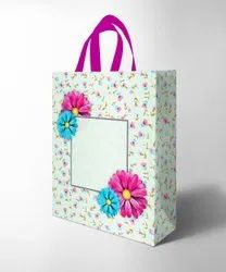 Handle Type: Loop Handle Printed Bopp Laminated non woven Box Bag, For Promotional