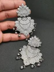 Alloy Silver Antique Look Earrings