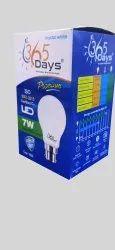 Cool Daylight 7W DOB Based LED Bulb, LED Bulb Power: 7watt, Base Type: B22