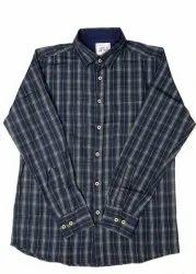 JPND Collar Neck Black Check Shirt