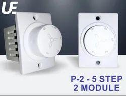Usquare Electronics Rotator Switch P-2 - 5 Step 2 Module Fan Regulator ( Negotiable Prices)