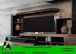CUATOMIZE Wood TV Unit, For Residential, Living Room,Bed Room