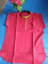 Red Cotton khadi kurta, Chinese