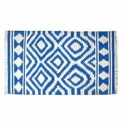 Rectangular Woven Handmade Cotton Rugs, For Home, Size: 4x6
