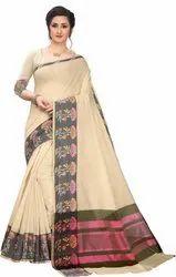 Leeza Store 6.3 m (with blouse piece) Woven Banarasi Jacquard Poly Silk Saree