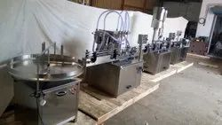 Automatic Bottle Filling Capping Labeling Machine