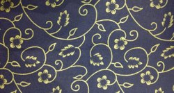 Blue Printed Mattress Fabric