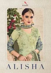 Kaara Alisha Muslin Cotton Digtial Print With Work Designer Salwar Suit Catalog