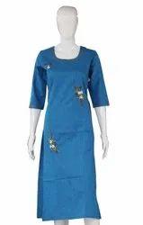 Printed Ladies Designer Cotton Kurti, Wash Care: Handwash
