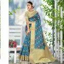 Cotton Weaving Digital Print Saree Catalog