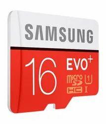 Samsung 16 GB EVO Plus Memory Card, For MOBILE, Size: MicroSD