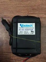 vootech Black AC To DC Adaptor, 1, 15s