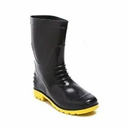 Agarson Bahubali Black and Yellow Safety / Industrial Gumboot