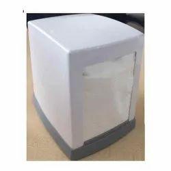 Plastic White Cube Napkin Dispenser