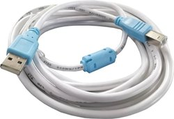 Micro USB Double Color White Printer Cable
