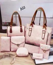 Ladies Baby Pink Fancy Handbag Set