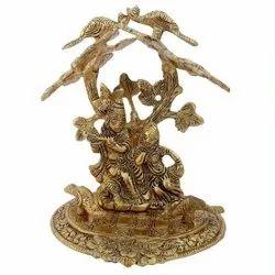 Metal radha krishna statue religious idol  home decor festival gift