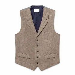 Party Plain Mens Cotton Designer Waistcoat, Size: Small