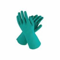 Green Nitrile Rubber Gloves