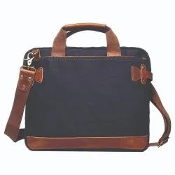 Canvas Laptop With Leather Martial Bag, Capacity: 2 Kg