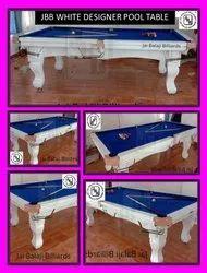 JBB White Designer Pool Table