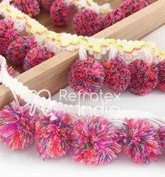 Pink Pom Pom Fringe