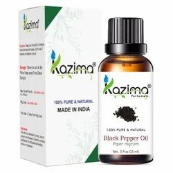 Kazima Natural & Undiluted Black Pepper Oil, Packaging Size: 15 ml