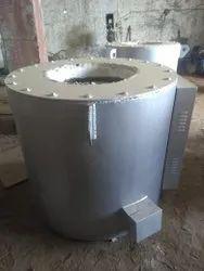 Aluminium Gas Mealting holding furnace, Material Loading Capacity (T): 2