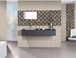 Glossy Rectangular Ceramic Wall Tile, Size: 600 mm x 600 mm, Thickness: 5-10 mm