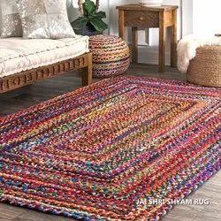 Stripped Square Multi Coloured RUG, For Floor, Model Name/Number: Jsse 001