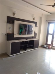 Brown Wall Mounted Wooden TV Unit, For Home