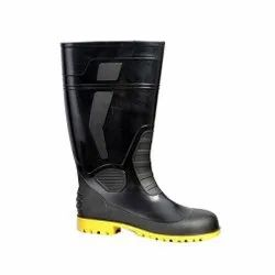 Fortune Atlantic Black And Yellow Safety / Industrial Gumboot