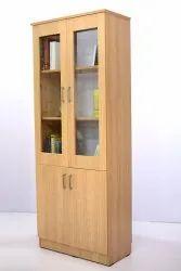 Wooden 4 Door Bookshelf, For Library