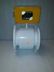 Integral Or Remote MS Electromagnetic Flow Meter With Telemetry System, Water