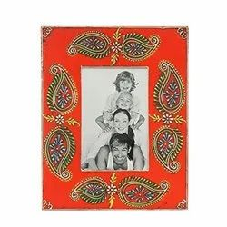 Decoration Wooden Hand Painted Photo Frame, Size: 5x7 Inch