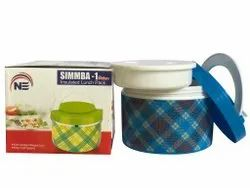 NE Plastic Deluxe Insulated Lunch Box, For School,Office, Capacity: 300 Ml